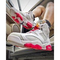 "Air Jordan 6 Retro ""Hare"" sneakers basketball shoes"