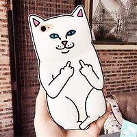 Angry Cat Silicon Phone Case