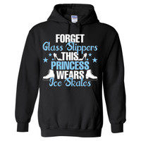 Forget Glass Slippers This Princess Wears Ice Skates - Heavy Blend™ Hooded Sweatshirt