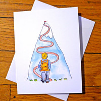 Encouragement Card - You can Probably Do It - Mountain Climber - Backpacker