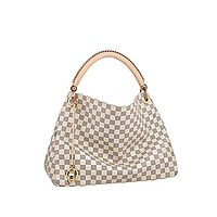 LV Style Artsy Quality Canvas Damier Azur Color Shoulder Handbag Attractive for Women and Men MM Size Fashion Bag by DMYTROVITCHUK