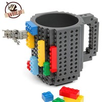 1PCS 350ml Building Blocks Mug Funny Cool Coffee Beer Travel Items Gear Stuff Supplies Fun Cups Products Gift For Children