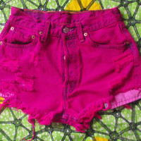 Hot Pink High Waisted Vintage Levi Denim
