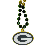 Green Bay Packers Mardi Gras Bead Necklace