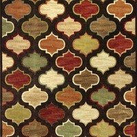 """Contemporary Versailles 2'2""""x3'7"""" Rectangle Mocha Area Rug - contemporary - rugs - by RugPal"""