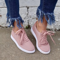Tess Lace-Up Sneakers - Mauve