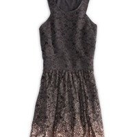 AEO Women's Ombre Lace Dress (Ebony Grey)