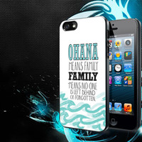 ohana means family lilo and stitch disney iPhone 5, 5s, 5C, 4, 4S , Samsung Galaxy S3, S4, S5 , iPod Touch 4 / S Case