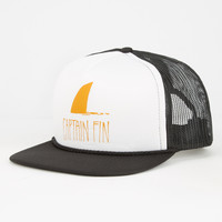 Captain Fin Shark Fin Mens Trucker Hat White One Size For Men 26688915001