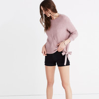 Side-Tie Pullover Sweater