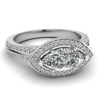 AMAZING 4.25CT MARQUISE SOLITAIRE 925 STERLING SILVER ENGAGEMENT RING FOR HER