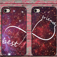 BFF Best Friends Universe Space Galaxy Phone Cases for iPhone 6 6 plus 5c 5s 5 4 4s