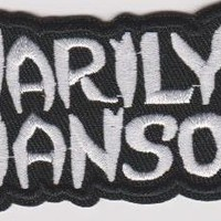 Marilyn Manson Iron-On Patch Stacked White Letters Logo