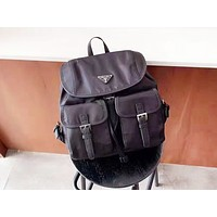 PRADA fashion hot seller vintage women's solid color shopping backpack