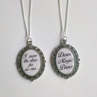 Labyrinth Inspired 'I move the Stars for No-one' or 'Dance Magic Dance' Necklace
