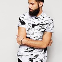 New Look Short Sleeve Shirt with Storm Print