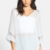 ASTR Lace Inset Textured Top