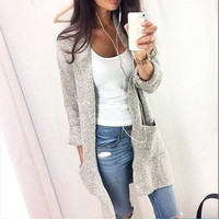 Women Casual Knitting Cardigans Autumn Coat = 1876338436