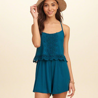 Twofer Knit Romper