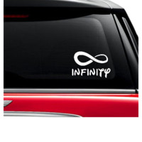 infinity car sticker decal