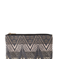 FOREVER 21 Tribal-Inspired Embroidered Clutch Black/Multi One