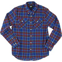 Grizzly Tundra Button-up Longsleeve Small Blue Plaid