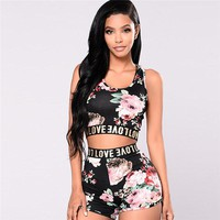 Sexy Love Cami w/ Floral Shorts (2-Piece Set)