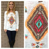 White Crystal Eye of the Tribe Burnout Top