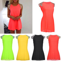 Hot New Sexy Women Summer Chiffon Cocktail Strapless Club Dress Party Mini Dresses For Dating Gifts Plus Size Cheap Z2