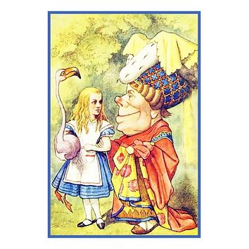 Tenniel's The Queen from Alice in Wonderland Counted Cross Stitch Chart Pattern