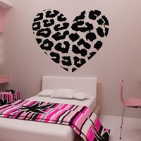 "23.6"" X 27.5"" Leopard Heart Wall Decals Removable Wall Decal Sticker DIY Art Decor Mural Vinyl Home Room Leopard Spot Heart Print:Amazon:Home & Kitchen"