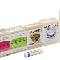 Grandmas Pure & Natural Six Piece Soap and Lotion Assortment, 6 Count