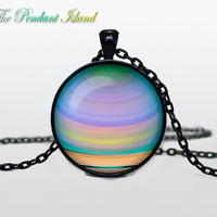 JUPITER JEWELRY  Jupiter necklace  planet necklace galaxy Universe Necklace  Space universe  Art Gifts for Her for men for him and hers