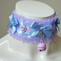 ddlg collar - Princess Lilianne - pastel victorian alternative harajuku lolita fairy kei fashion kitten play neko kittenplay  - nekollars