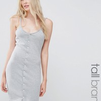 Missguided Tall Button Front Mini Bodycon Dress