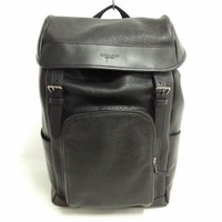 Auth COACH Henry Pebble Leather Bag Pack F72311 Black Leather
