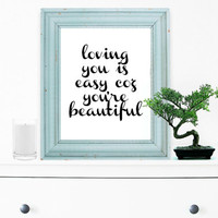 Inspirational Print, Wall Decor, Typography Wall Art, Motivational Print, Inspirational Poster, Teen Gift Ideas, Shabby Chic - PT0040