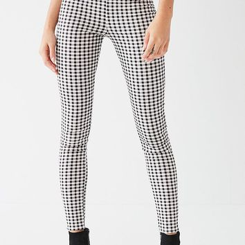 I.AM.GIA Miller Gingham Skinny Zipper Pant   Urban Outfitters