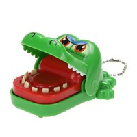 Crocodile Keychain Mouth Dentist Bite Game Toys Funny Cartoon Animal Toy Crocodile Dentist Bite With Keychain Mouth