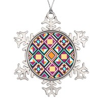Quilt Pattern Pewter Ornament