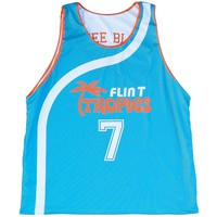 Flint Tropics Funky Stuff and Black Coffee #7 Basketball Reversible