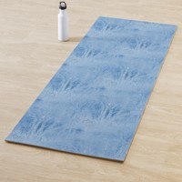 Hazy Blue Woods at Night Yoga Mat