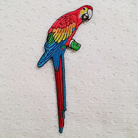 Parrot Bird Animal New Iron On Patch Embroidered Applique size 6.2cm.x13.3cm.