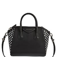 Givenchy - Antigona Small Woven Leather Satchel - Saks Fifth Avenue Mobile