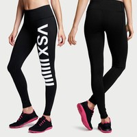 Ladies Slim Stretch Yoga Outdoors Quick Dry Professional Gym Pants Cropped Pants [6572466055]
