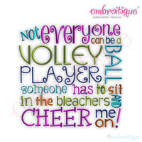 Not Everyone Can Be a Volleyball Player...