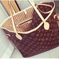 【Louis Vuitton】LV Women Girl Shoulder Bag Monogram Canvas Key Pouch LV Print