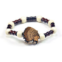 The Chief Wood Charm Bracelet