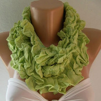 Infinity Scarf Loop Scarf Circle Scarf  Cotton Scarf...small size infinity
