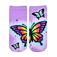 Butterfly Airbrush Ankle Socks